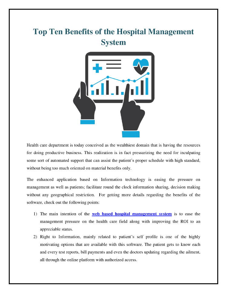 Top Ten Benefits of the Hospital Management System |authorSTREAM