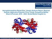 Hemoglobinopathies Market size is expected grow from 2016 to 2023