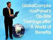 GlobalCompliancePanel's On-Site Trainings offer A World of Benefits (1