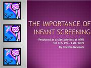 The Importance of Infant Screening
