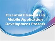Essential Elements In Mobile Application Development Process