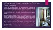 Limited Window Covering Curtains to Suit Your Taste Upgraded
