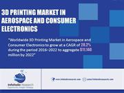 3D printing market in Aerospace and Consumer Durable