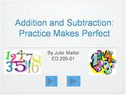 Addition and Subtraction Powerpoint 2