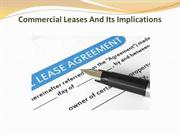 Commercial Leases And Its Implications