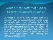 What are Different Kind of Decorative Mirrors?