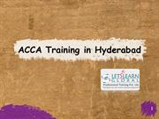 ACCA Training in Hyderabad, ACCA Coaching in Hyderabad, ACCA Training