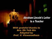 v-[Adapted] - Abraham Lincoln's Letter t