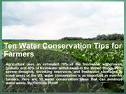 Caroline Plouff | 10 Water Conservation Tips for Farmers