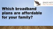 Which broadband plans are affordable