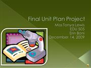 Final Unit Plan Project