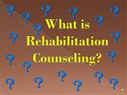 What is Rehabilitation Counseling?