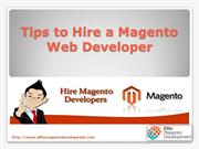 Tips to hire a Magento Web Developer