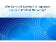 Why Keyword Research is Important Factor in Content Marketing?