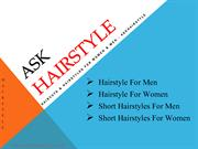 Hairstyle For Women | Short Hairstyles For Men - Askhairstyle