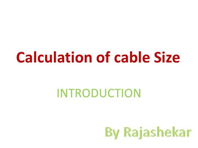Cable size calculation authorstream greentooth Images