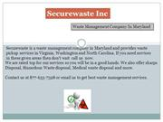 Waste Management Companies in Maryland