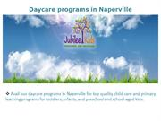 Daycare programs in Naperville