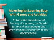 Make English Learning Easy With Games and Activities