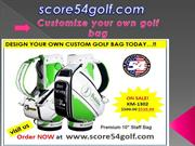 Customize your own golf bag
