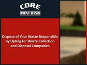 Dispose of Your Waste Responsibly by Opting for Waste Collection