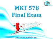 MKT 578 Final Exam : MKT 578 Final Exam Answers Free at UOP E Help