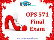 OPS 571 Final Exam   OPS 571 Final Exam Answers   UOP E Help