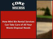 how mini bin rental services can take care of all your waste disposal