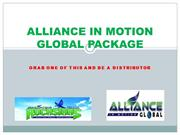 ALLIANCE IN MOTION GLOBAL PACKAGES