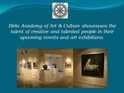 Birla Academy of Art and Culture - Upcoming Events