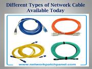 Different Types of Network Cable Available Today