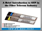 A Brief Introduction to SFP in the Fiber Telecom Industry