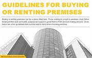 Considerations for renting and buying premises