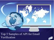 Top 5 Samples of API for Email Verification