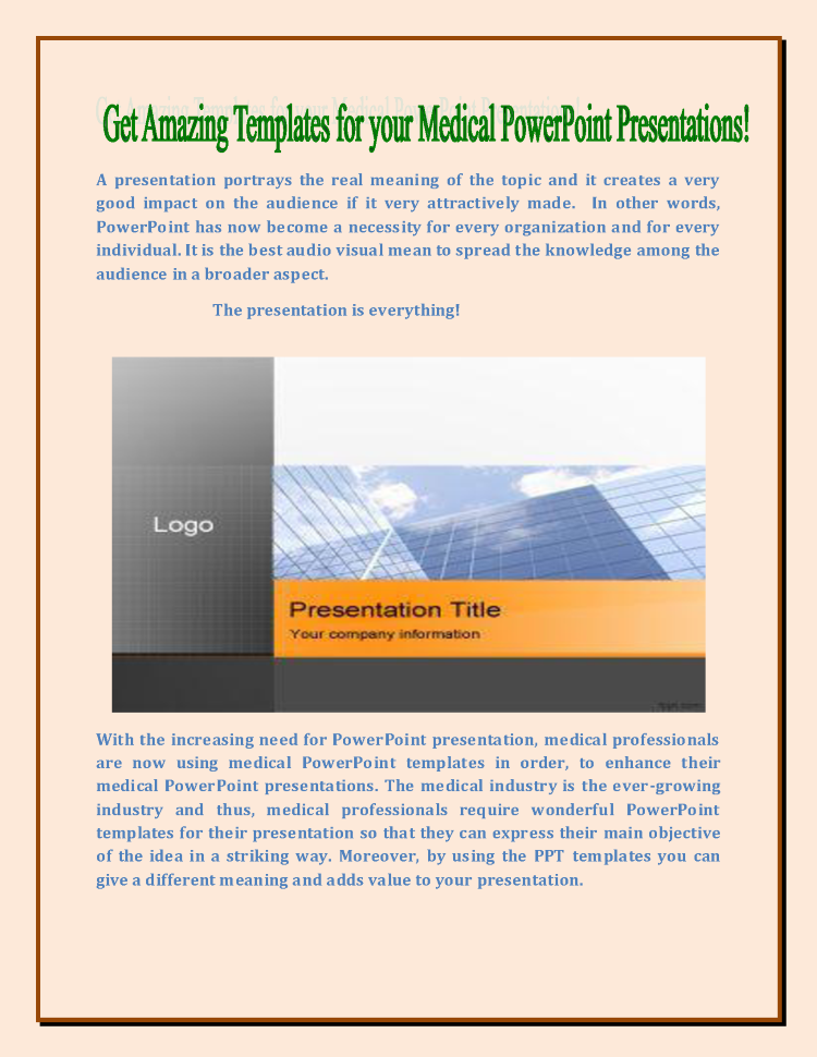 medical powerpoint presentations authorstream