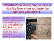"TWABR Wine tasting VA, ""Wine is a little like love when you taste the"