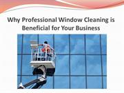 Why Professional Window Cleaning is Beneficial for Your Business