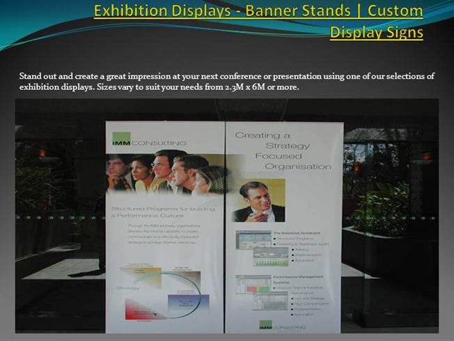 Exhibition Stand Banner : Exhibition displays banner stands custom display signs