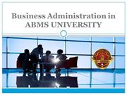 Business Administration in ABMS UNIVERSITY