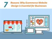 7 Reasons Why Ecommerce Website Design is Essential for Businesses
