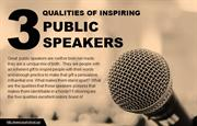 Which qualities do public speakers possess?
