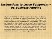 Instructions to Lease Equipment | US Business  Funding