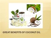 Great Benefits of Coconut Oil