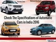List of Automatic Cars in India 2016