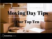 Moving Day Tips - Our Top Ten