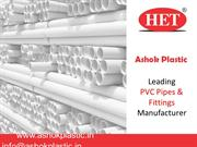 UPVC Pipe Fitting Manufacturers, in Ahmedabad, India | Ashok Plastic