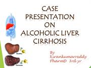 alcoholic liver cirrhosis 2nd sessional exam