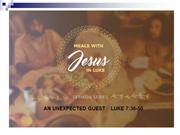 SUNDAY 4TH SEPT 2016 MEALS WITH JESUS