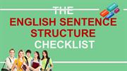 The English Sentence Structure Checklist