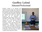 Geoffrey Lafond - Educated Professional